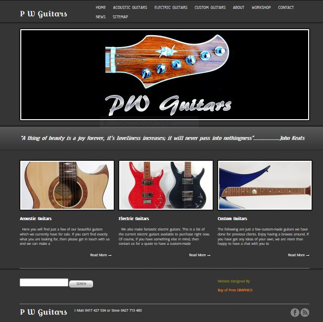 PW Guitars Website
